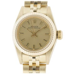 Rolex Oyster Perpetual 67197, Champagne Dial, Certified