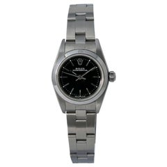 Rolex Oyster Perpetual 76080, Black Dial, Certified and Warranty