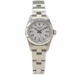 Rolex Oyster Perpetual 76080 with Band, Stainless-Steel Bezel and White Dial