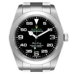 Rolex Oyster Perpetual Air King Black Dial Steel Mens Watch 116900 Box Card