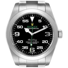 Rolex Oyster Perpetual Air King Black Dial Steel Watch 116900 Box