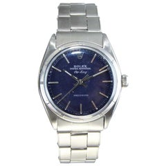 Rolex Oyster Perpetual Air King Ref 1003 Custom Blue Dial Dated 1961
