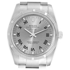 Rolex Oyster Perpetual Air King Rhodium Dial Men's Watch 114210 Box Card