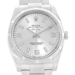 Rolex Oyster Perpetual Air King Silver Dial Steel Men's Watch 114210