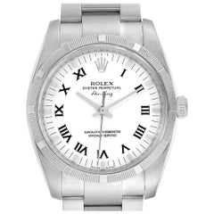 Rolex Oyster Perpetual Air King White Dial Steel Men's Watch 114210