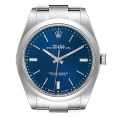 Rolex Oyster Perpetual Automatic Steel Mens Watch 114300 Box Card