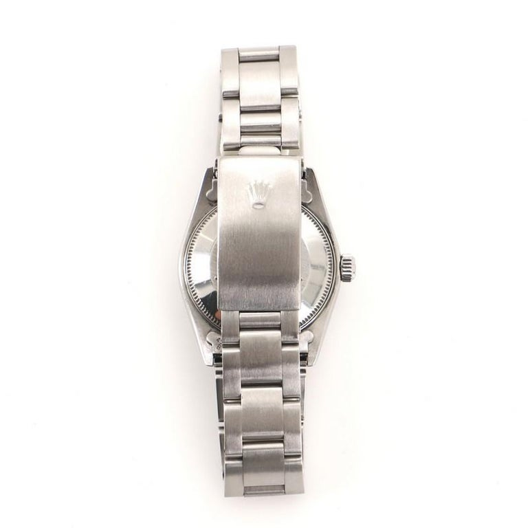 Rolex Oyster Perpetual Automatic Watch Stainless Steel 31 In Good Condition For Sale In New York, NY
