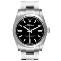 Rolex Oyster Perpetual Black Dial Steel Watch 124200 Unworn
