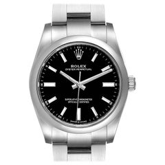 Rolex Oyster Perpetual Black Dial Steel Watch 124200 Unworn