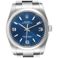 Rolex Oyster Perpetual Blue Dial Oyster Bracelet Men's Watch 116000