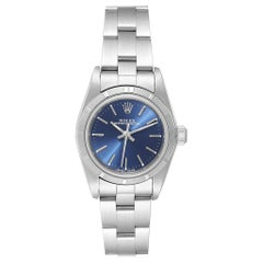Rolex Oyster Perpetual Blue Dial Oyster Bracelet Steel Ladies Watch 76030