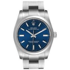 Rolex Oyster Perpetual Blue Dial Steel Mens Watch 124200 Unworn