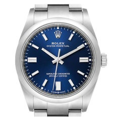 Rolex Oyster Perpetual Blue Dial Steel Men's Watch 126000 Unworn