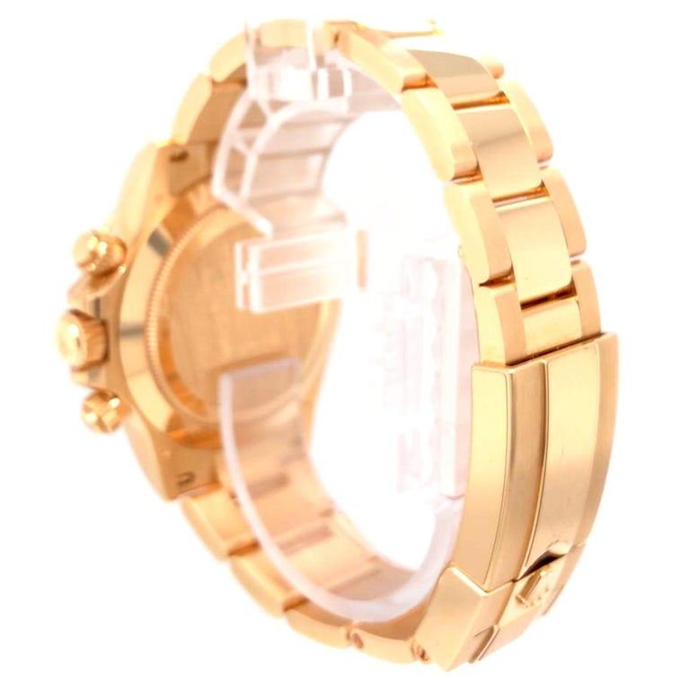 Rolex Oyster Perpetual Cosmograph Daytona 40 Yellow Gold Mother of Pearl Diamond For Sale 1