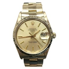 Rolex Oyster Perpetual Date 15038 18 Karat Yellow Gold Collectible Beautiful