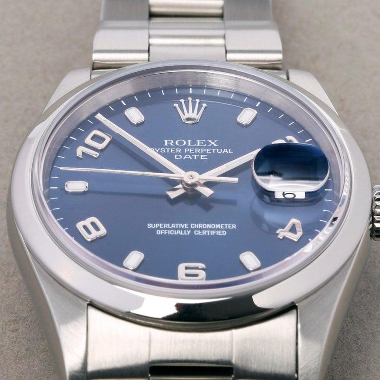 Rolex Oyster Perpetual Date 15200 Unisex Stainless Steel Watch In Excellent Condition In Bishops Stortford, Hertfordshire
