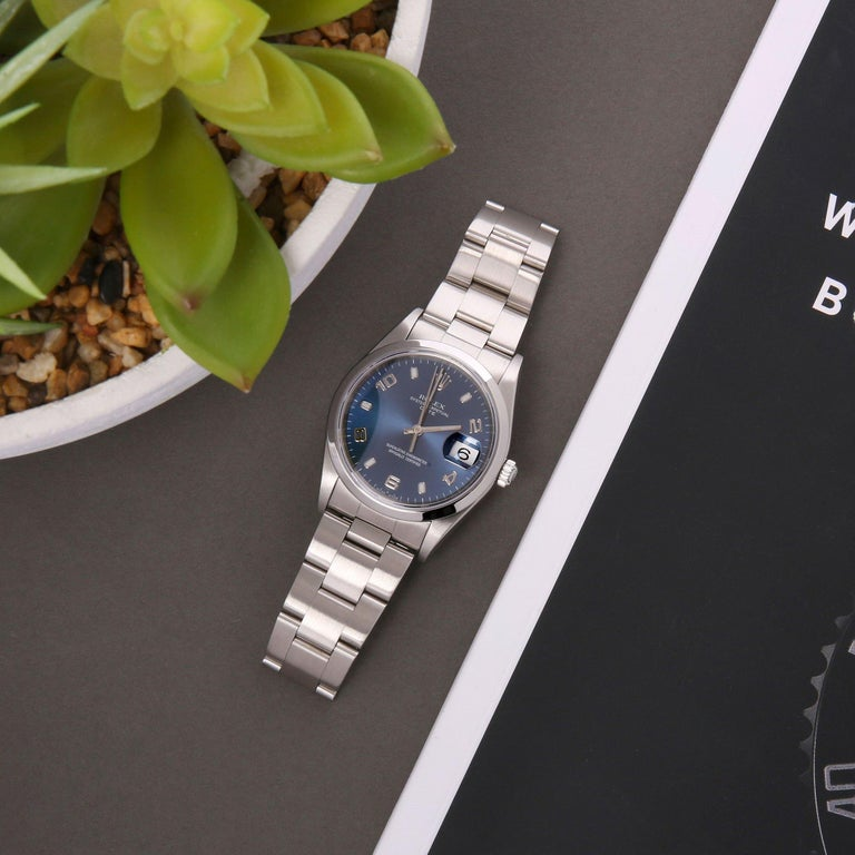 Rolex Oyster Perpetual Date 15200 Unisex Stainless Steel Watch 5