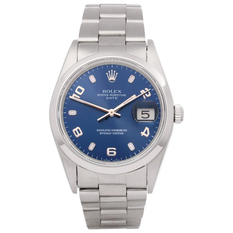Rolex Oyster Perpetual Date 15200 Unisex Stainless Steel Watch