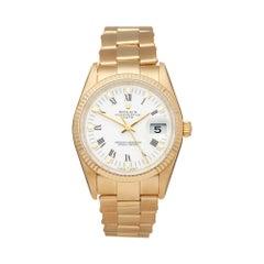Rolex Oyster Perpetual Date 18 Karat Yellow Gold 15238 Wristwatch