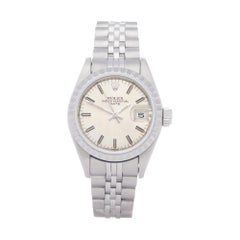 Rolex Oyster Perpetual Date 26 69240 Ladies White Gold & Stainless Steel 18K Wat