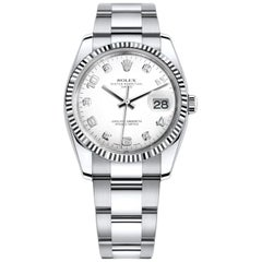 Rolex Oyster Perpetual Date 34 Stainless Steel 18k White Gold Oyster-Band 115234