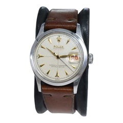 Rolex Oyster Perpetual Date All Original with Rare Waffle Dial from 1954