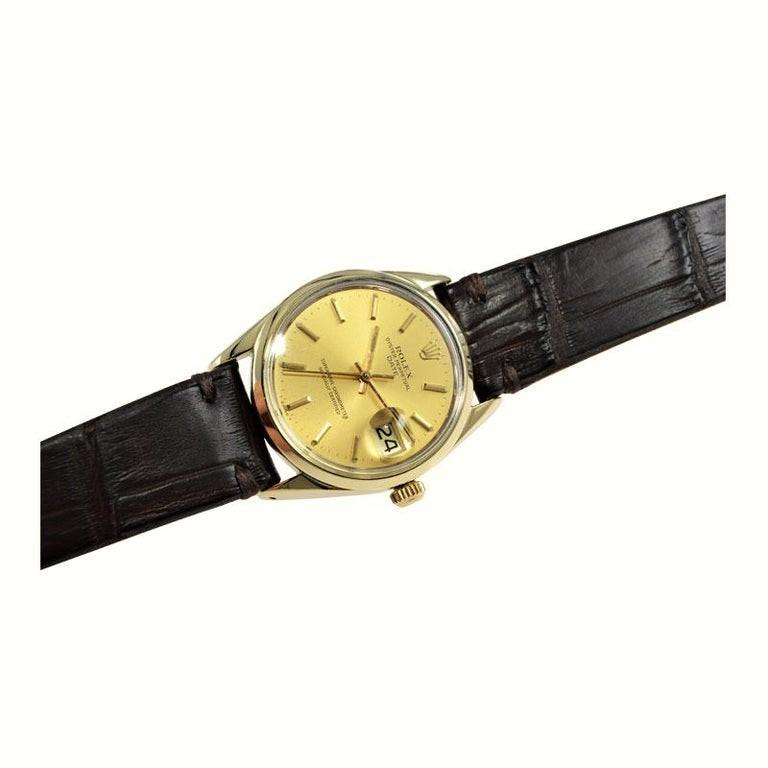 Rolex Oyster Perpetual Date Gold Shell Series in New Condition, circa 1972 For Sale 1