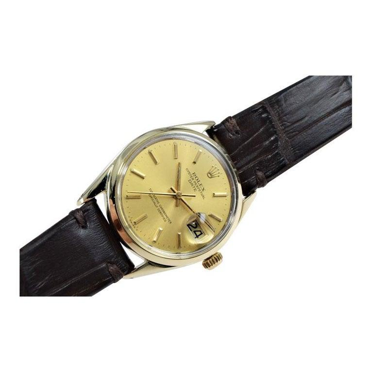 Rolex Oyster Perpetual Date Gold Shell Series in New Condition, circa 1972 For Sale 2