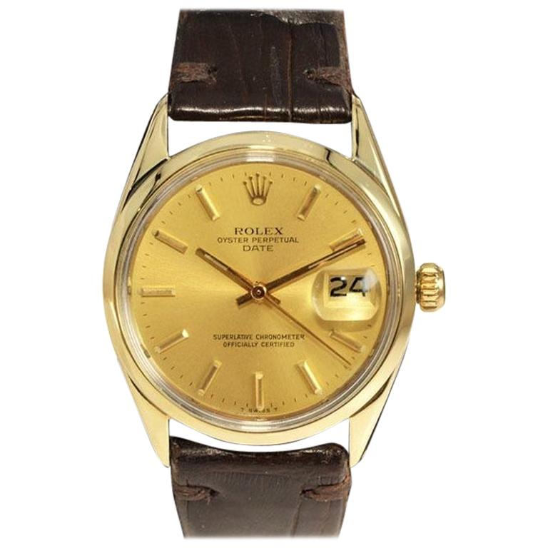 Rolex Oyster Perpetual Date Gold Shell Series in New Condition, circa 1972 For Sale