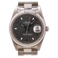 Rolex Oyster Perpetual Date Ref 15200 Stainless Steel circa 2002 Anthracite Gray
