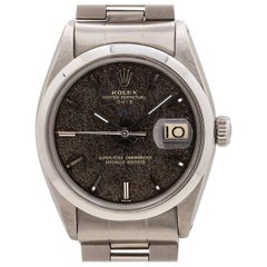 "Rolex Oyster Perpetual Date Stainless Ref 1500 Gilt ""Leopard"" Dial, circa 1959"