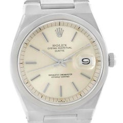 Rolex Oyster Perpetual Date Vintage Men's Stainless Steel Watch 1530