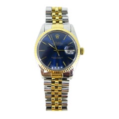 Rolex Oyster Perpetual Datejust 16000 Yellow Gold Stainless Steel Watch