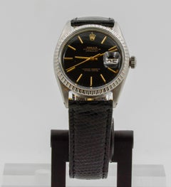 Rolex Oyster Perpetual Datejust Lizard Leather Watch