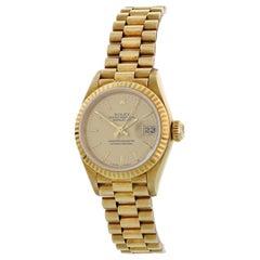 Rolex Oyster Perpetual Datejust 69178 18 Karat Gold President Ladies Watch