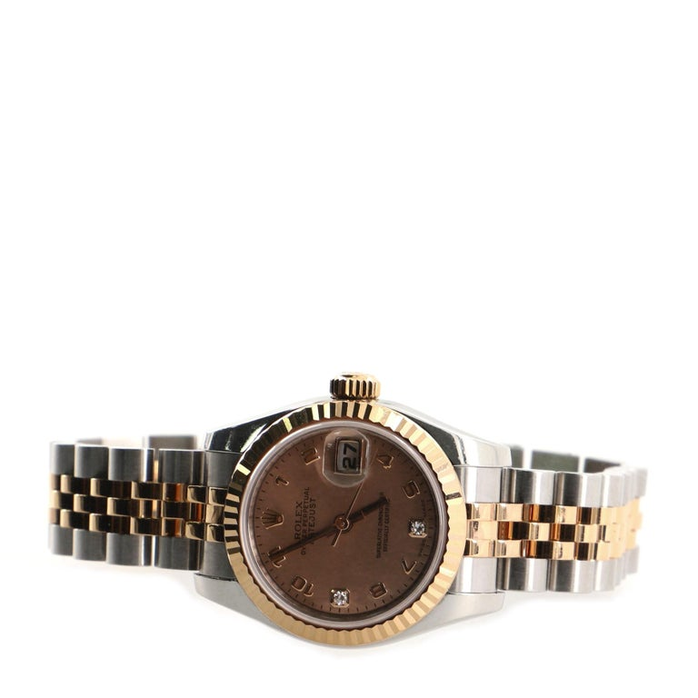 Women's Rolex Oyster Perpetual Datejust Automatic Watch Stainless Steel and Everose Gold