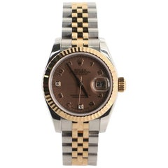 Rolex Oyster Perpetual Datejust Automatic Watch Stainless Steel and Everose Gold