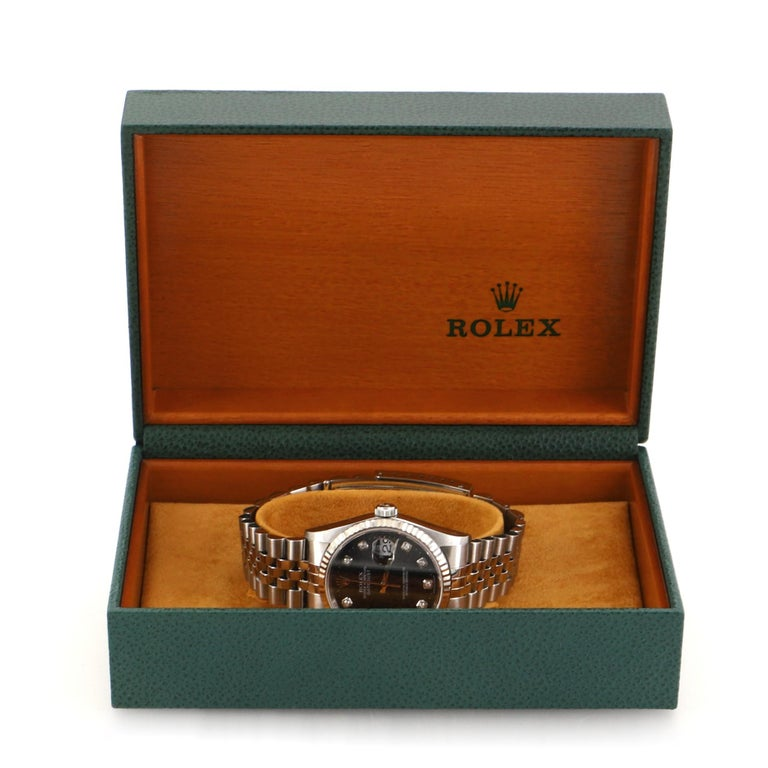 Condition: Very good. Wear and moderate scratches throughout. Accessories: Box Measurements: Case Size/Width: 36mm, Watch Height: 13mm, Band Width: 20mm, Wrist circumference: 7