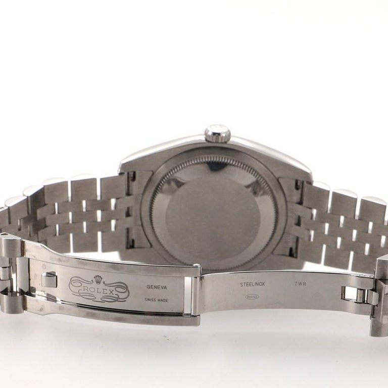 Rolex Oyster Perpetual Datejust Automatic Watch Stainless Steel and White Gold For Sale 1