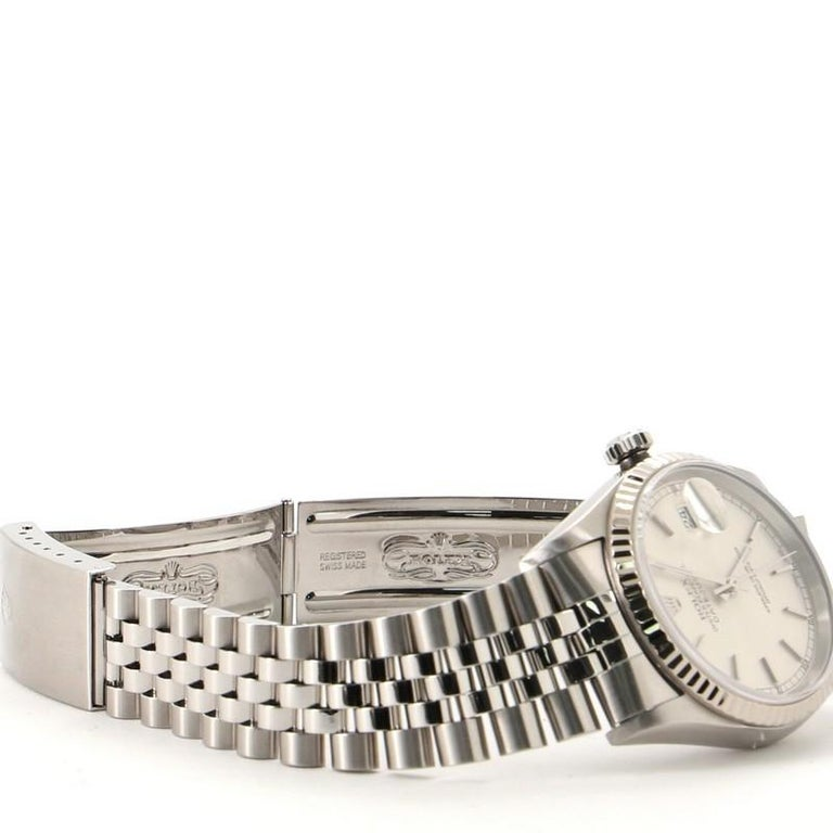 Rolex Oyster Perpetual Datejust Automatic Watch Stainless Steel and White Gold 2