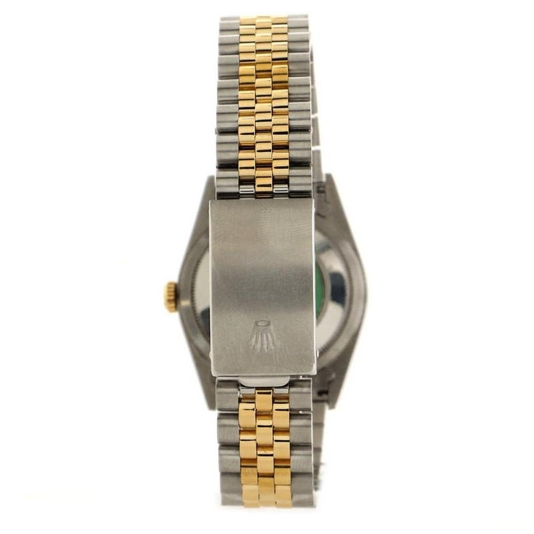 Rolex Oyster Perpetual Datejust Automatic Watch Stainless Steel and Yellow Gold  In Good Condition In New York, NY