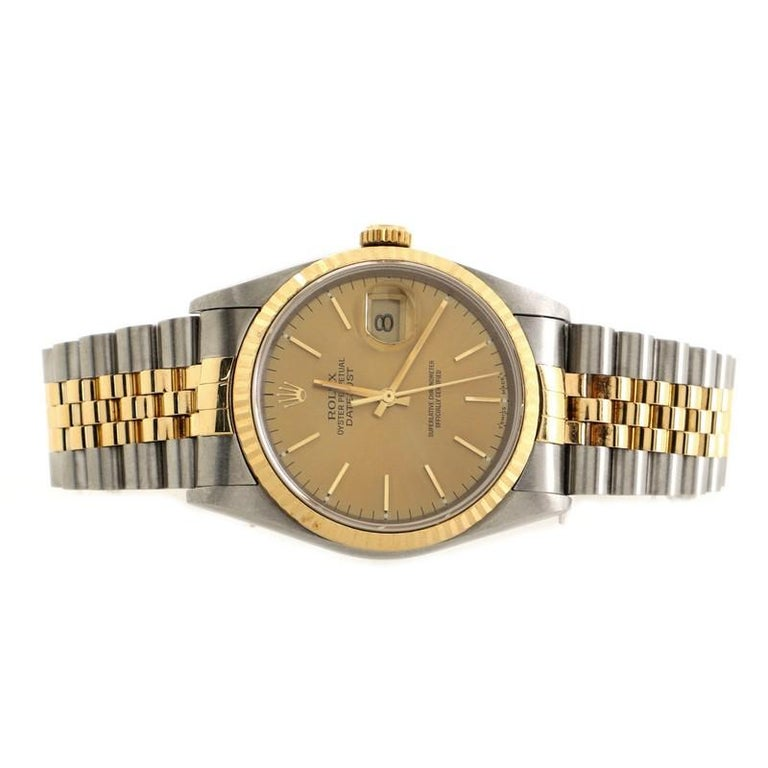 Women's Rolex Oyster Perpetual Datejust Automatic Watch Stainless Steel and Yellow Gold
