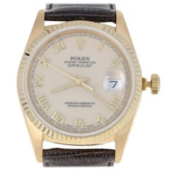 Rolex Oyster Perpetual Datejust Men's Watch, 18k Gold Automatic 2Yr Wnty 16248