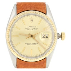 Rolex Oyster Perpetual Datejust Men's Watch, Stainless 18k Gold 2Yr. Wnty 16013