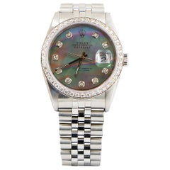 Rolex Oyster Perpetual Datejust Mother of Pearl Dial 54 Diamonds Factory