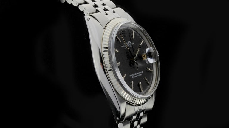 Rolex Oyster Perpetual DateJust Rare Grey Dial Ref 1603 For Sale 4