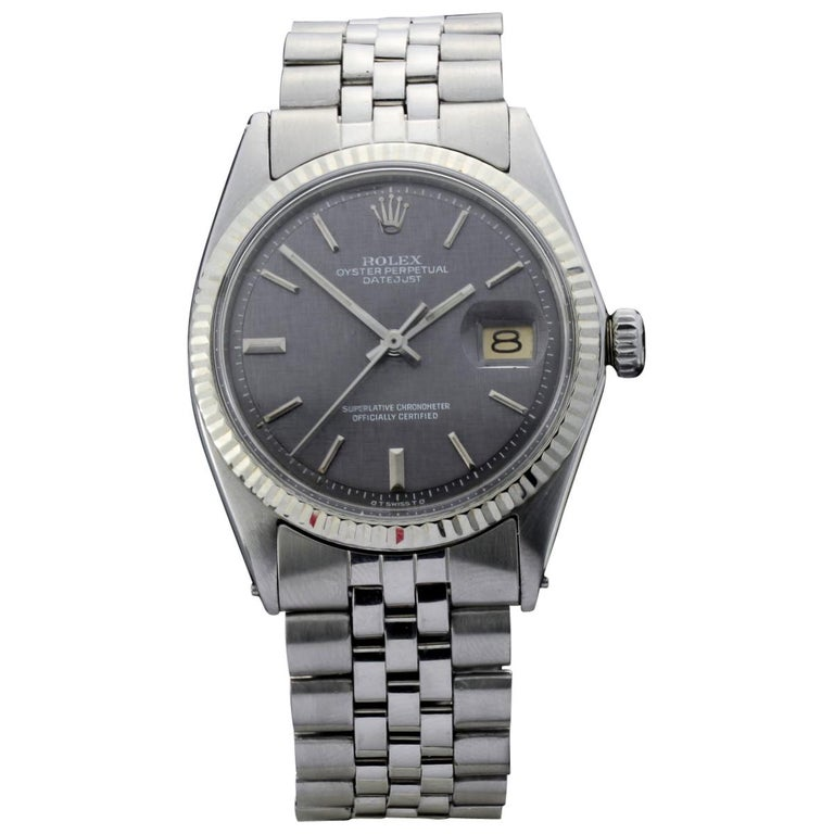 Rolex Oyster Perpetual DateJust Rare Grey Dial Ref 1603 For Sale