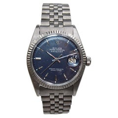 Rolex Oyster Perpetual Datejust Ref 1601 with Carbonized Charcoal Case and Band
