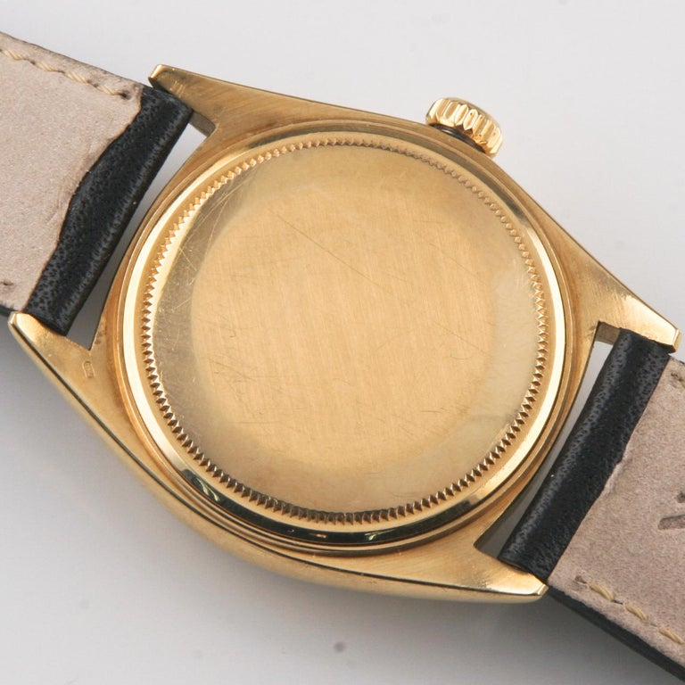 Rolex Oyster Perpetual Day-Date 1960s President 18k Gold with Leather Band #1803 For Sale 2