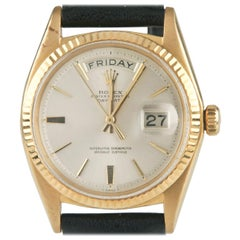 Rolex Oyster Perpetual Day-Date 1960s President 18k Gold with Leather Band #1803